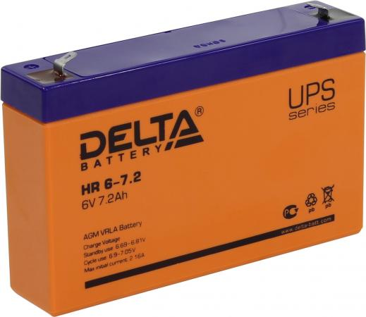 Батарея Delta HR 6-7.2 7.2Ач 6B new original dvp48eh00r3 delta plc eh3 series 100 240vac 24di 16do relay output