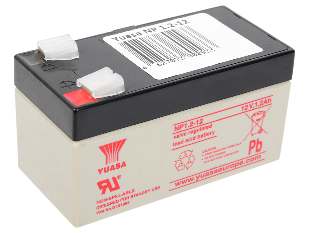 все цены на Аккумулятор Yuasa 12V1.2Ah (NP1.2-12)