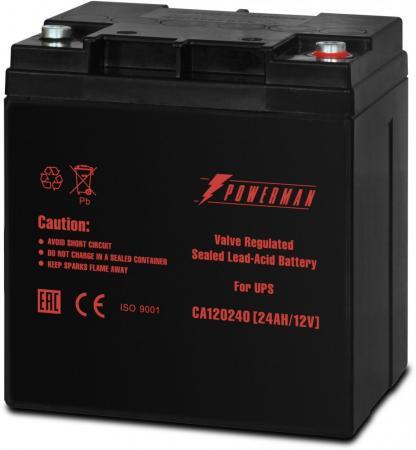 Батарея Powerman CA12240 12V/24AH батарея powerman ca12120 ups 12v 12ah