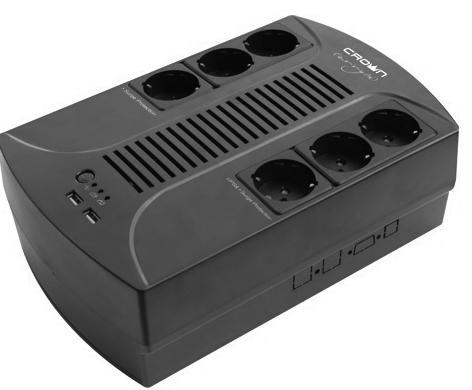 ИБП Crown CMUS-265 Euro Smart 650VA\360W ибп cyberpower utc650e 650va 360w 2 euro