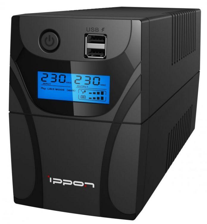 Фото - ИБП Ippon Back Power Pro II 850 850VA/480W LCD,RJ-45,USB (2 EURO) contrast lace keyhole back blouse
