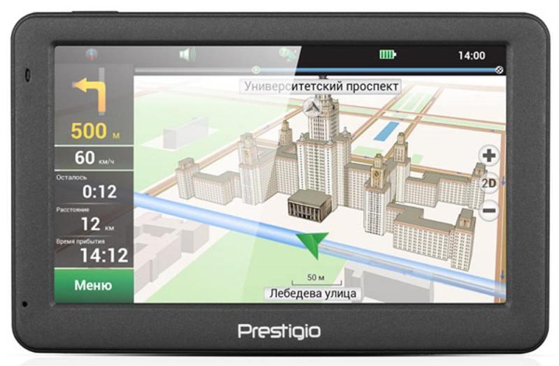 Навигатор Prestigio GeoVision 5059 Навител 5 480x272 4GB 128MB microSD microSDHC серый навител навигатор балтия литва латвия эстония [цифровая версия] цифровая версия