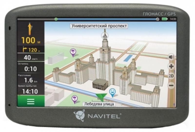 """Навигатор Navitel G500 5"""" 480x272 4GB 128MB microSD черный + GLONASS"""