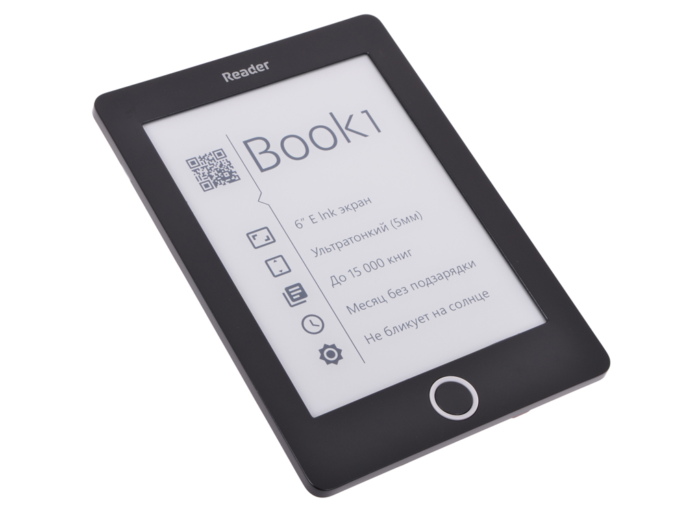 "Электронная книга Reader Book 1 6"" E-ink HD Pearl 1024x758 1Ghz/4Gb черный от OLDI"