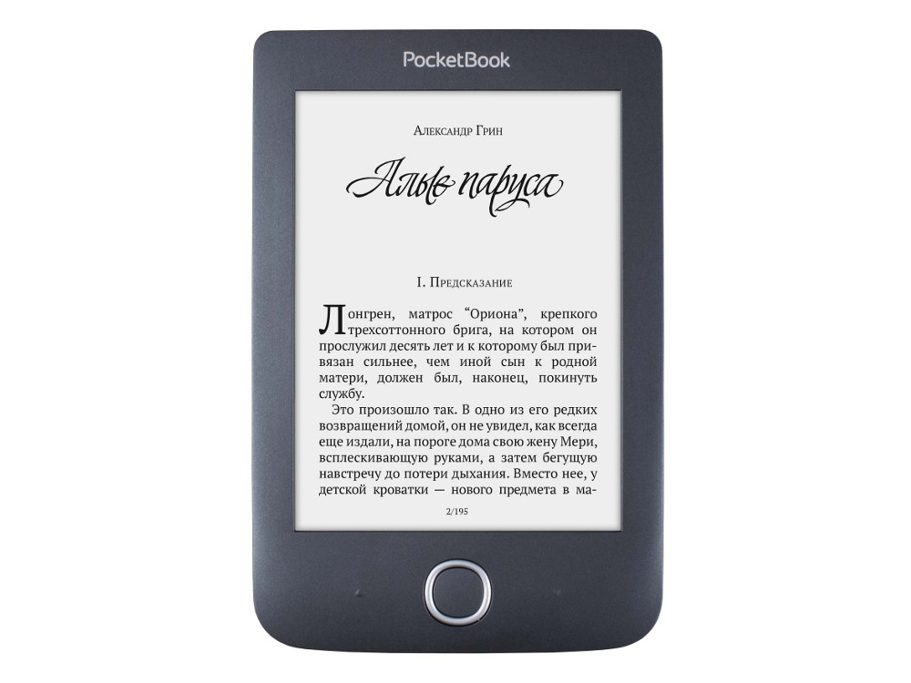 Электронная книга PocketBook 614 Plus, черный