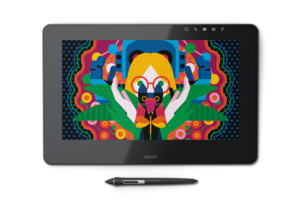Графический планшет Wacom Cintiq Pro 13 FHD DTH-1320-EU графический планшет wacom cintiq 27qhd touch dth 2700