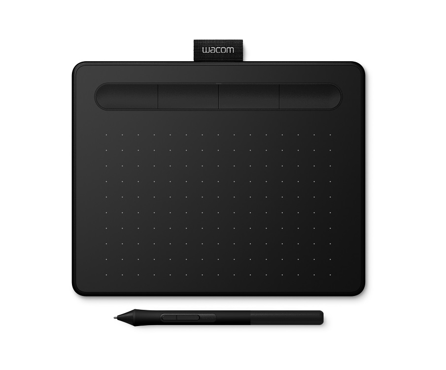 Графический планшет Wacom Intuos S черный (CTL-4100K-N) графический планшет wacom intuos draw white pen s цвет белый ctl 490dw n