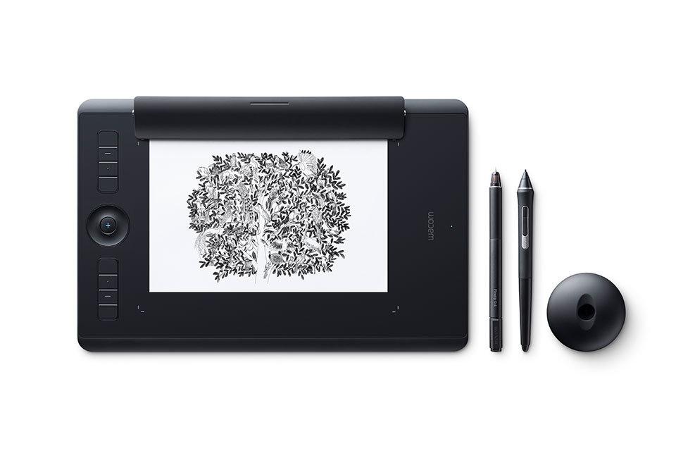 Графический планшет Wacom Intuos Pro Paper PTH-660P-R Bluetooth/USB черный планшет для рисования wacom intuos pro l pth 860 r bluetooth usb