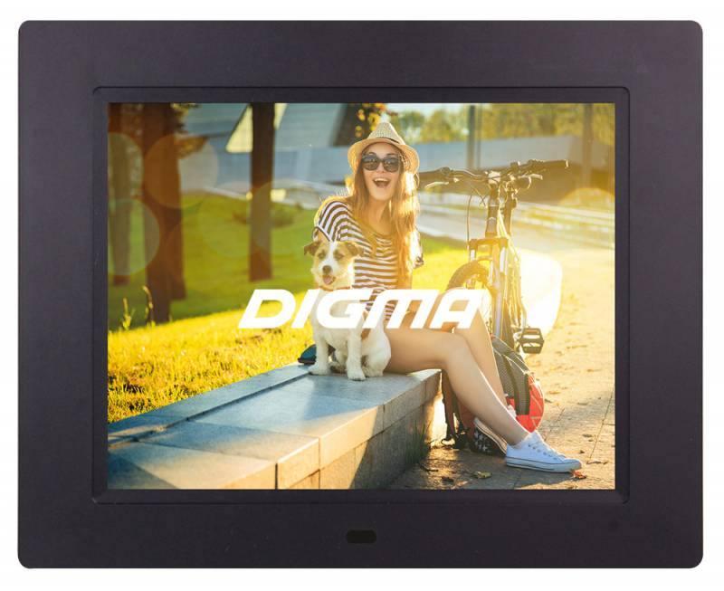 "Цифровая фоторамка Digma PF-833 черный 8"" 1024x768 пластик"