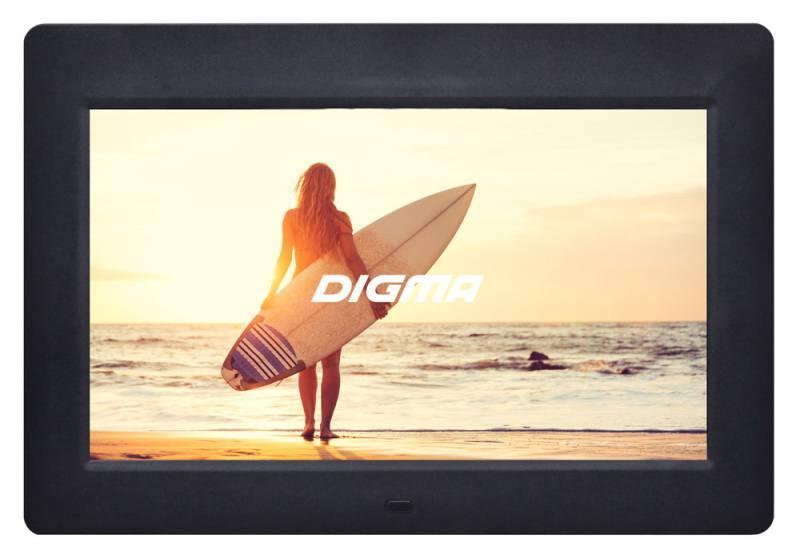Фото Цифровая фоторамка Digma PF-1033 черный 10.1 1024x600 пластик сотовый телефон digma linx a177 2g