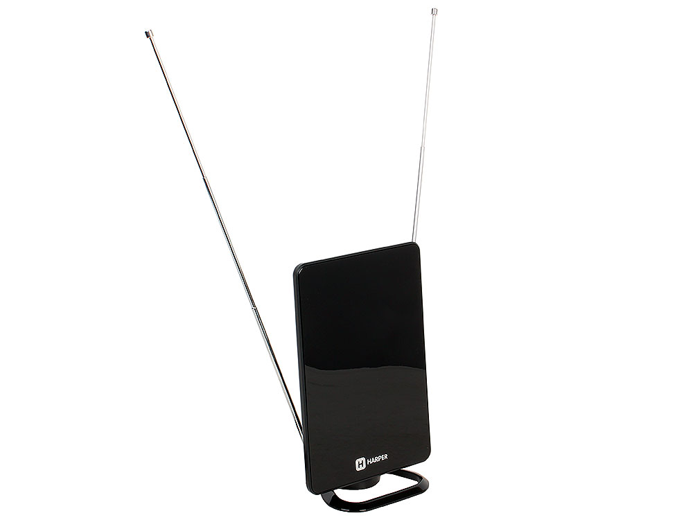 Телевизионная антенна HARPER ADVB-2820 (комнатная, активная;DVB-T2; VHF / UHF (174–230 MHz, 470-862 MHz); 25 dB; 75 ; 3 dB; питание-DVB-T2) антенна рэмо vega uhf dvb t t2 870024
