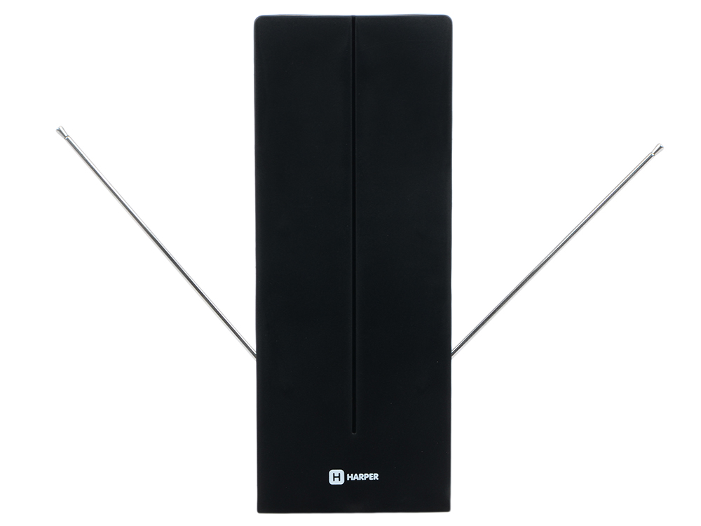 Телевизионная антенна HARPER ADVB-1213 (комнатная, активная;DVB-T2; VHF / UHF (174–230 MHz, 470-862 MHz); 15 dB; 20dB; 1,5 м) harper advb 1213 black телевизионная антенна