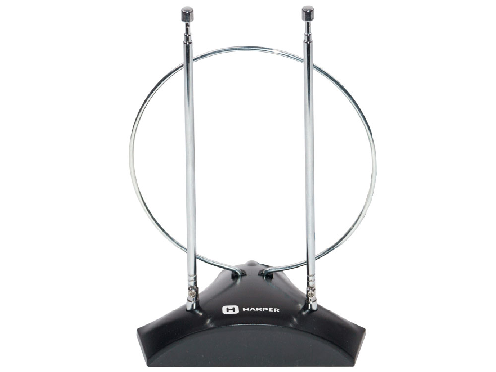 Телевизионная антенна HARPER ADVB-2010 (комнатная, активная;DVB-T2; VHF / UHF (174–230 MHz, 470-862 MHz) 1 м) harper advb 2711w black телевизионная антенна