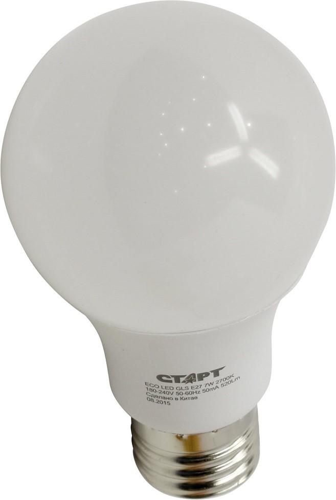 Энергосберегающая лампа СТАРТ ECO LED GLS (E27 7W 30 теплый)