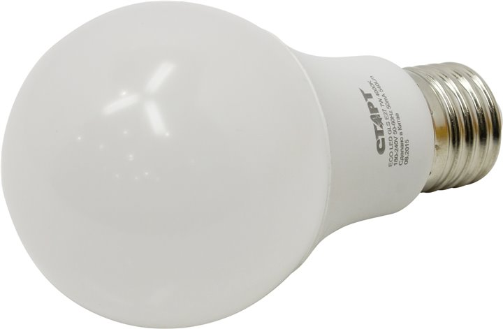 Энергосберегающая лампа СТАРТ ECO LED GLS (E27 7W 40 холодный)