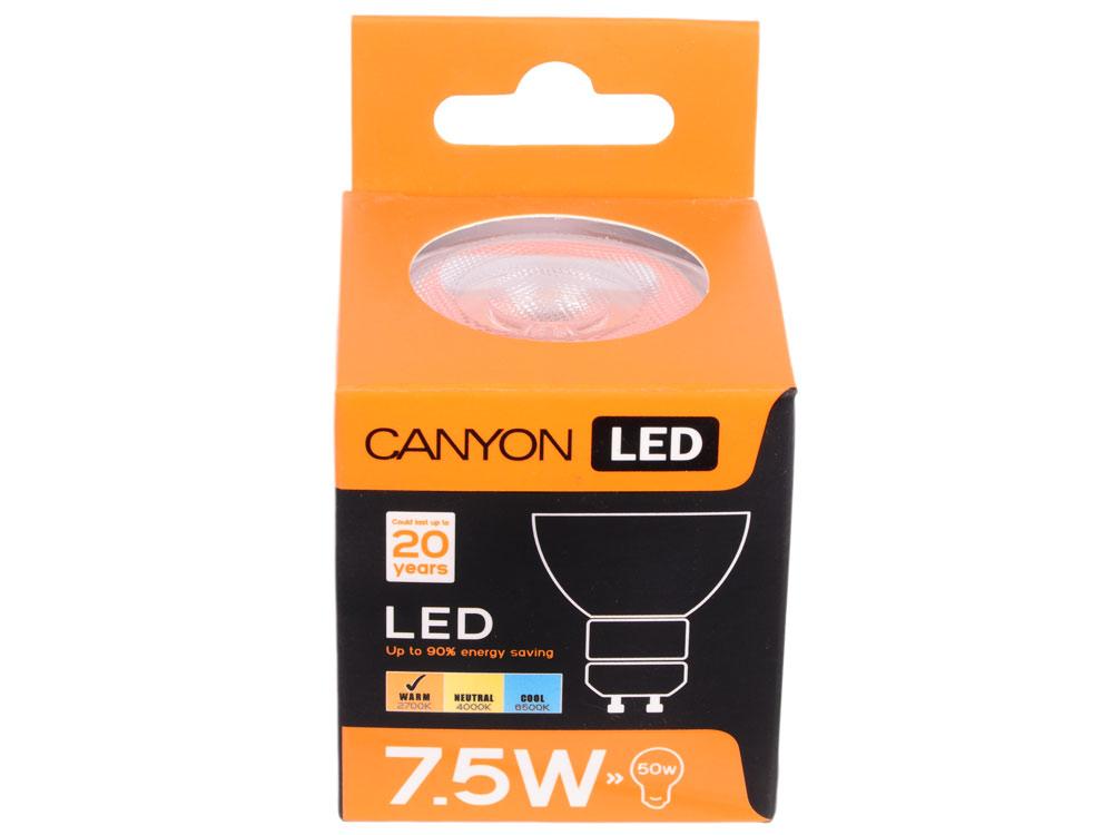 Лампа светодиодная Canyon GU10 7.5W 2700K (MRGU10/8W230VW60)