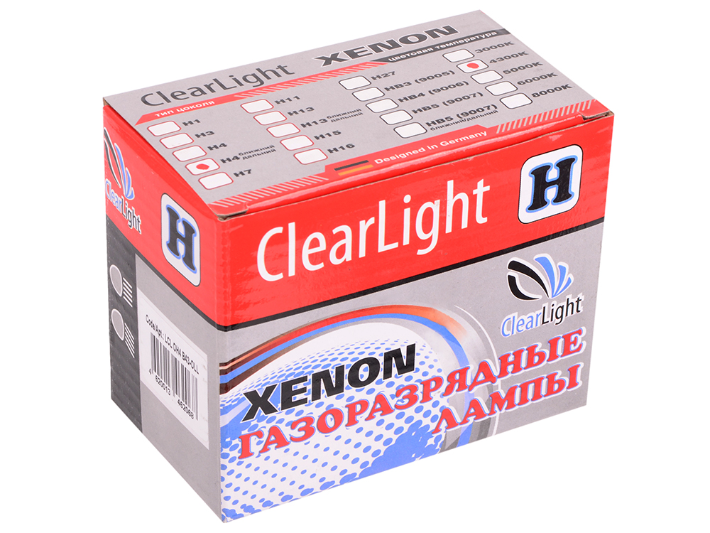 Комплект ламп Биксеноновых Clearlight H4 4300K ближнийдальний (2шт.)