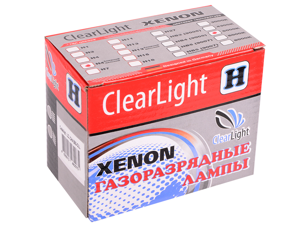 Комплект ламп Биксеноновых Clearlight H4 5000K ближнийдальний (2шт.)