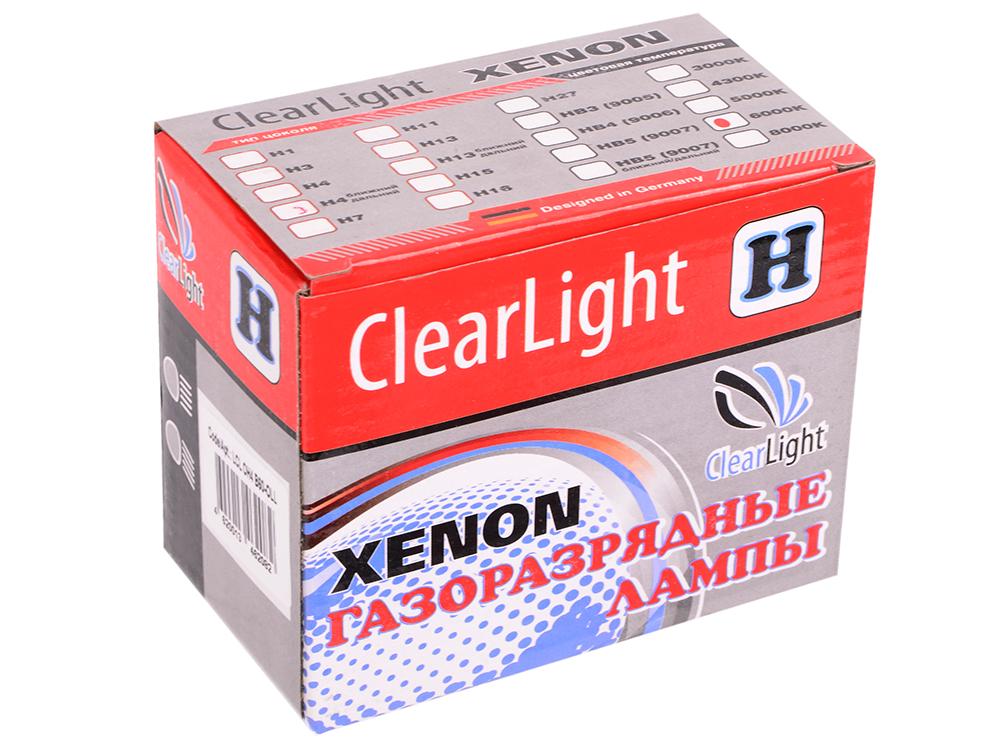 Комплект ламп Биксеноновых Clearlight H4 6000K ближнийдальний (2шт.)
