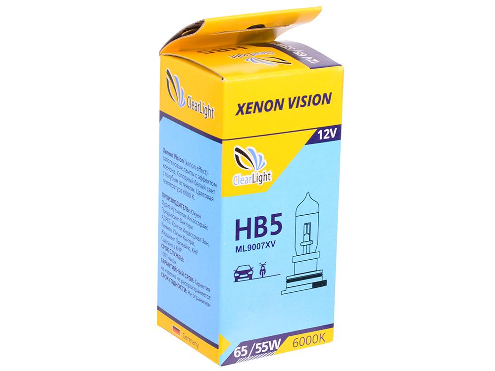 Лампа Галогеновая с увеличенным сроком службы HB5(Clearlight)12V-65/45W LongLife (1шт.) лампа hb5 9007 65 55 px29t 12v silvania