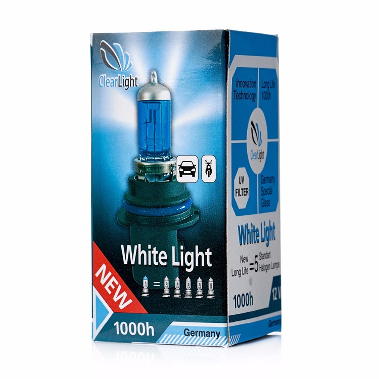 Лампа Галогеновая с эффектом ксенона 4300К HB5(Clearlight)12V-65/45W WhiteLight (1 шт.)