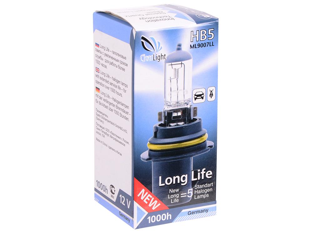 Лампа Галогеновая с эффектом ксенона 6000К HB5(Clearlight)12V-65/45W XenonVision (1 шт.) эффект ксенона