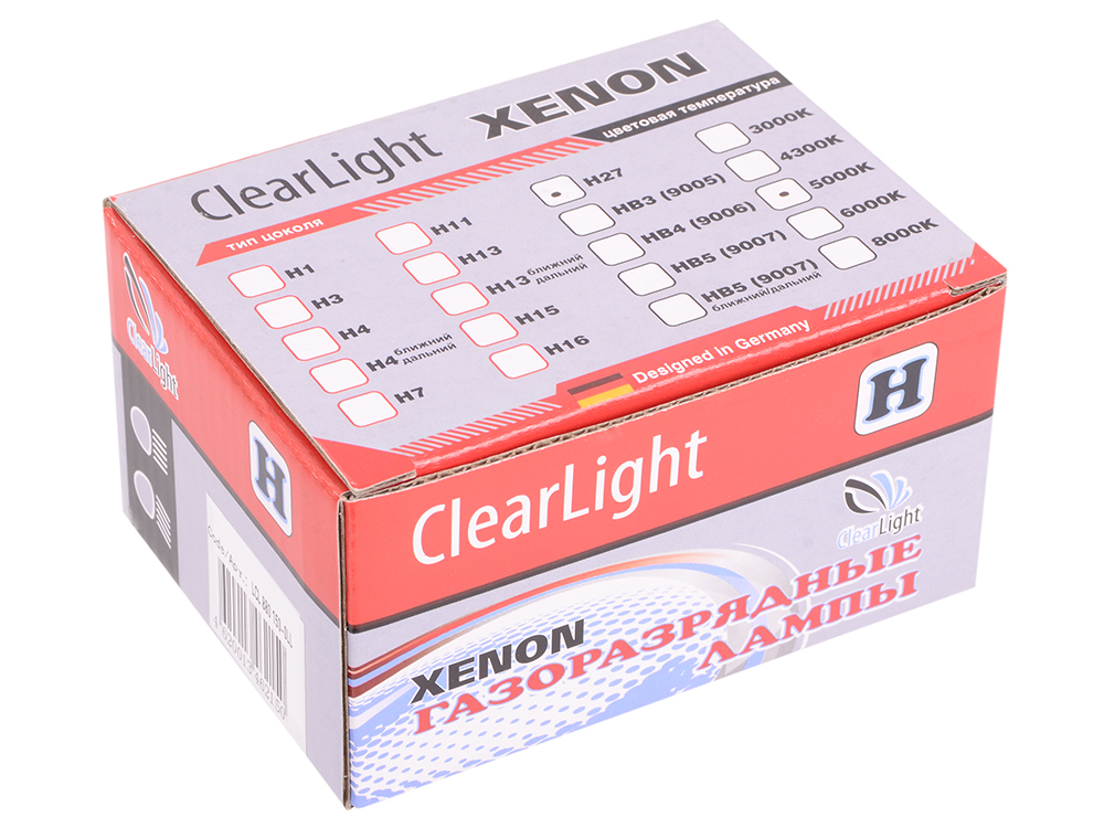 Комплект ламп ксеноновых Clearlight H27 880 5000K (2шт.)