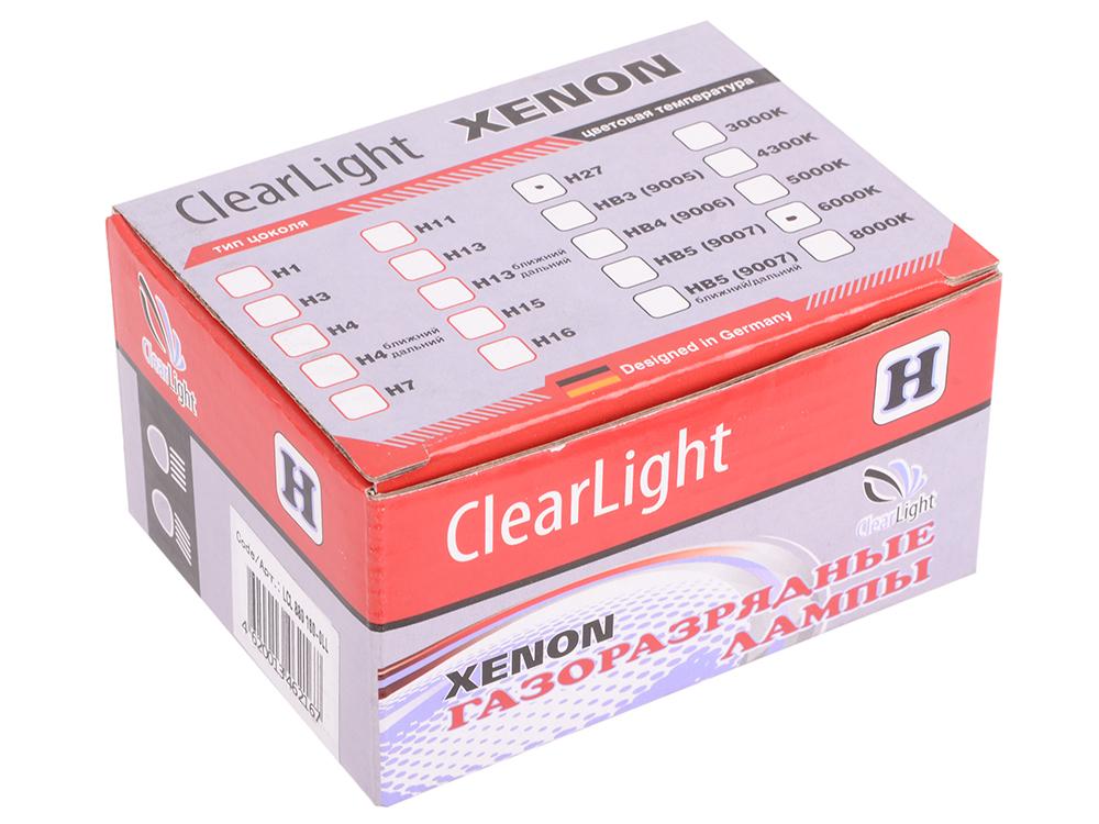 Комплект ламп ксеноновых Clearlight H27 880 6000K (2шт.)