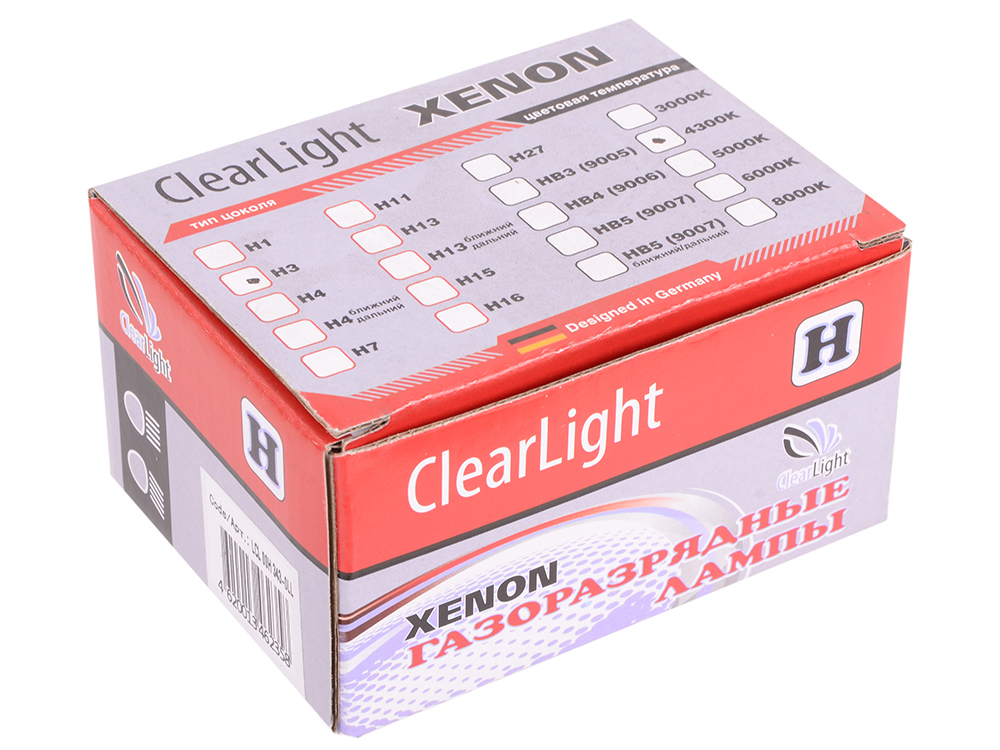 Комплект ламп ксеноновых Clearlight H3 4300K (2шт.)