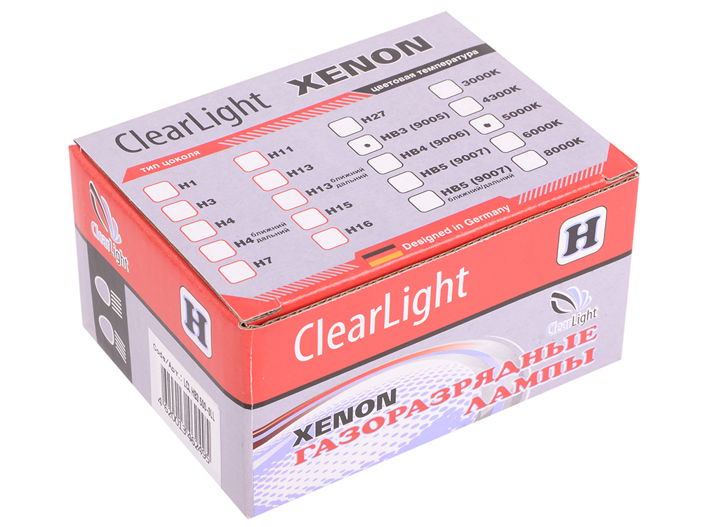 Комплект ламп ксеноновых Clearlight HB3 9005 5000K (2шт.)