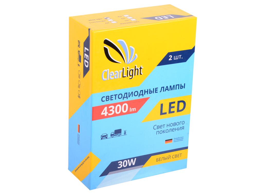 Лампа светодиодная LED Clearlight HB4 4300 lm ( 2 шт) лампа clearlight h11 lum 4300 clled43h11