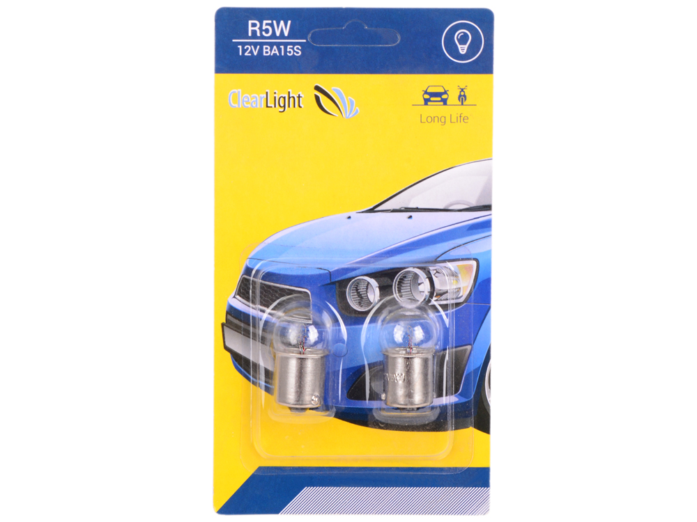 Лампа галогеновая R5W (Clearlight) 12V BA15S (блистер 2 шт.) r toys ba camilla 12