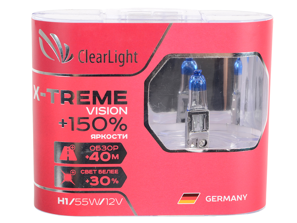 Комплект ламп галогненовых H1(Clearlight)12V-55W X-treme Vision +150% Light (2 шт.) blinder m45 x treme