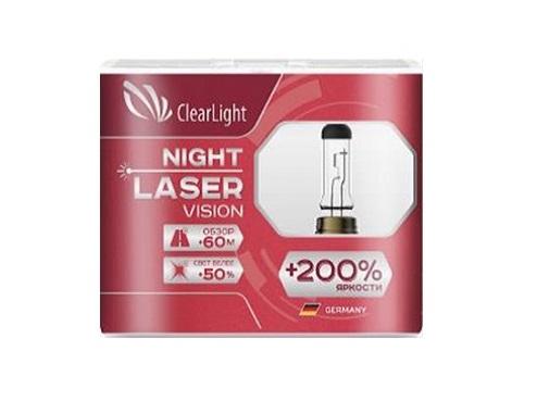 Комплект ламп галогненовых H4(Clearlight)12V-60/55W Night Laser Vision +200% Light (2 шт.)