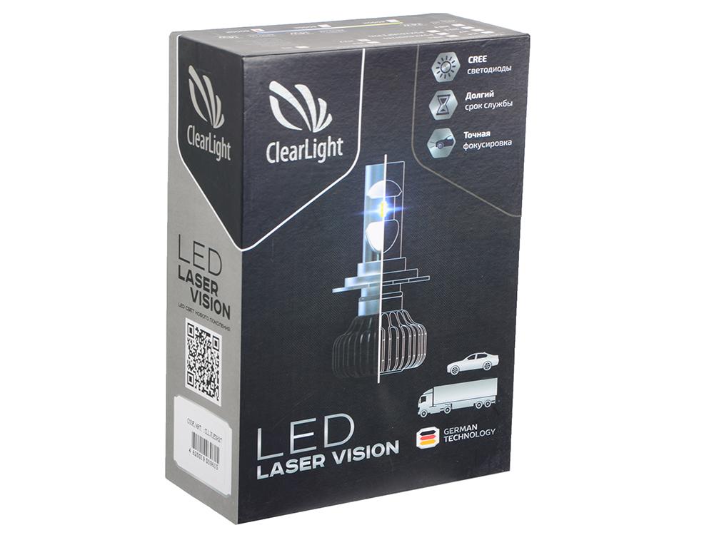 Комплект ламп светодиодных LED Clearlight Laser Vision H27 2800 lm 14W (2 шт) комплект светодиодных ламп головного света starled 2g h1 25w 2 шт