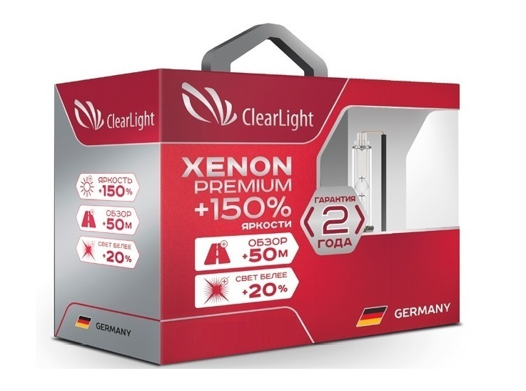 Комплект ламп ксеноновых Clearlight Xenon Premium+150% H11 (2 шт)
