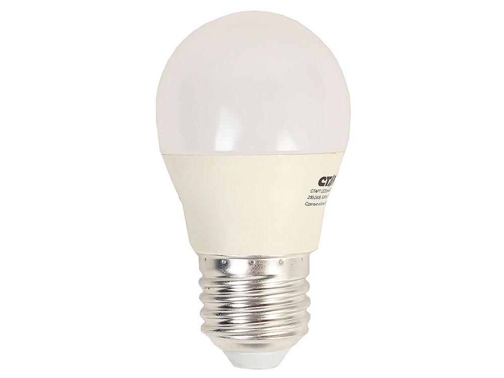Светодиодная лампа СТАРТ LEDSphereE27 7W 40 холодный 4000К, 220В, 270?, 500Лм