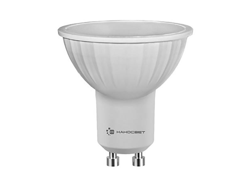 Светодиодная лампа НАНОСВЕТ GU10/840 EcoLed L108 6Вт, 220V, 450 лм, GU10, 2700К, Ra80
