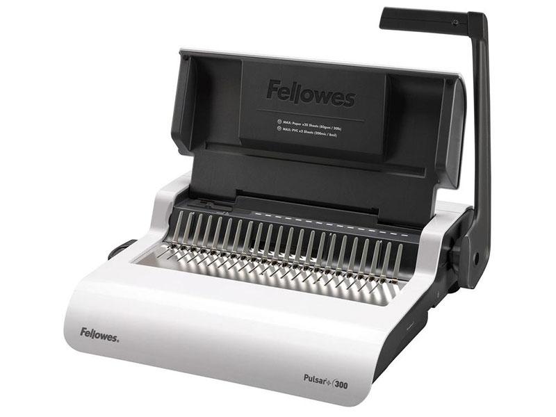 Брошюровщик Fellowes PULSAR+ на пластиковую пружину, сшивает до 300 лст., перфорирует 20 лст., шт брошюровщик fellowes helios 30