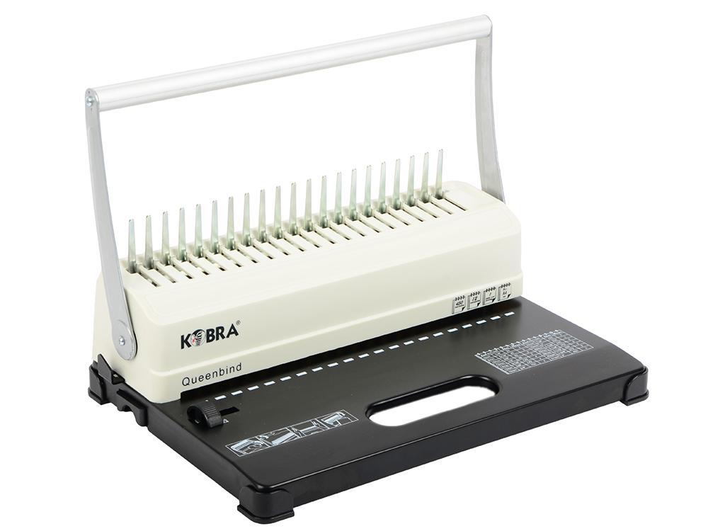 Брошюровщик Kobra Queenbind H500 на пластик. пружину, перф. 14л., сшивает до 500 л. брошюровщик gbc combbind 110 ручной на пластмассовую пружину 4401844 4401844