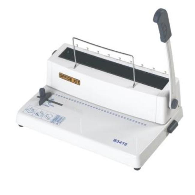 Брошюровщик Office Kit B3415 ручная перфорация 15 листов, переплет max 120 листов, метал.пружина (5,5-14,3мм), регулир.отступа, 1 рукоятка