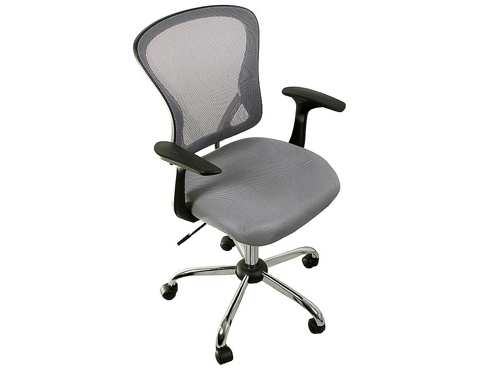 Кресло офисное COLLEGE H-8369F, серое ткань, сетчатый акрил, 120 кг, крестовина хромированный металл, подлокотники черный пластик. (ШxГxВ), см 65x60x93-103 college h 8369f gr mebelvia