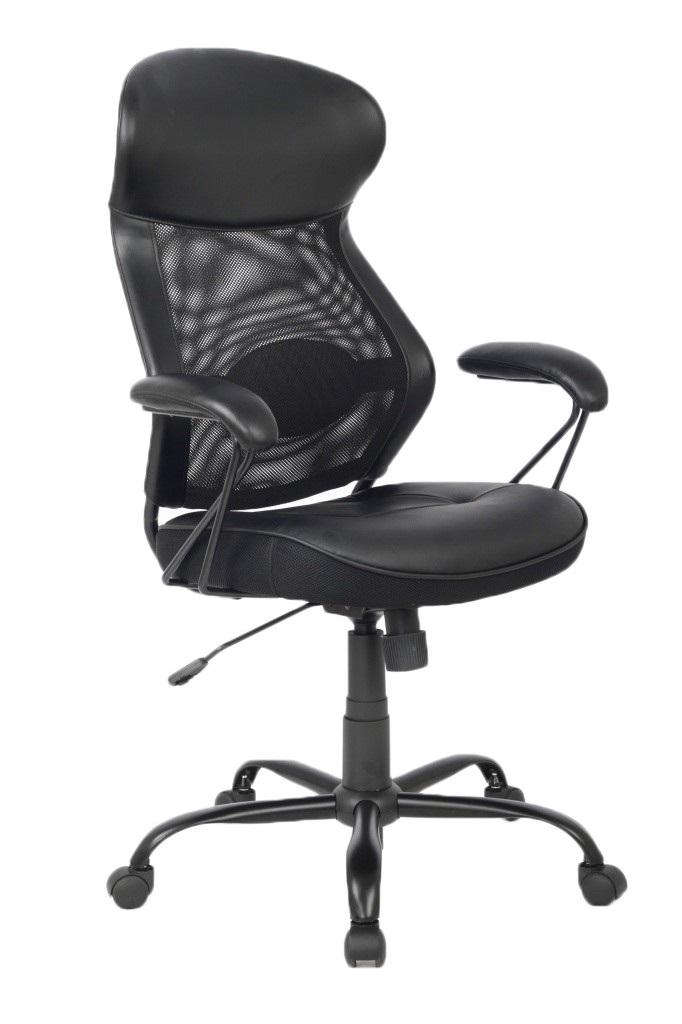 Кресло руководителя COLLEGE HLC-0370, черный кресло компьютерное college hlc 0370 brown