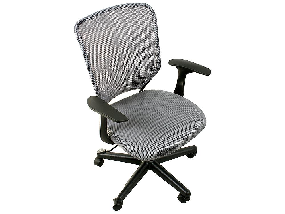 Кресло офисное COLLEGE H-8828F серый ткань, сетчатый акрил, 120 кг, крестовина и подлокотники черный пластик. (ШxГxВ), см 58x52x86-96 кресло college hlc 0601 черный