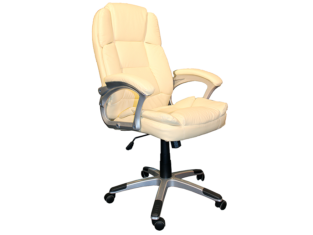 Кресло руководителя COLLEGE BX-3233 Беж., экокожа, 120 кг, подл. пластик/кожа, крест. пластик с вставками, спинка 73 см, (ШxГxВ), см 64.5*69*110-120 кресло college bx 3619 черное