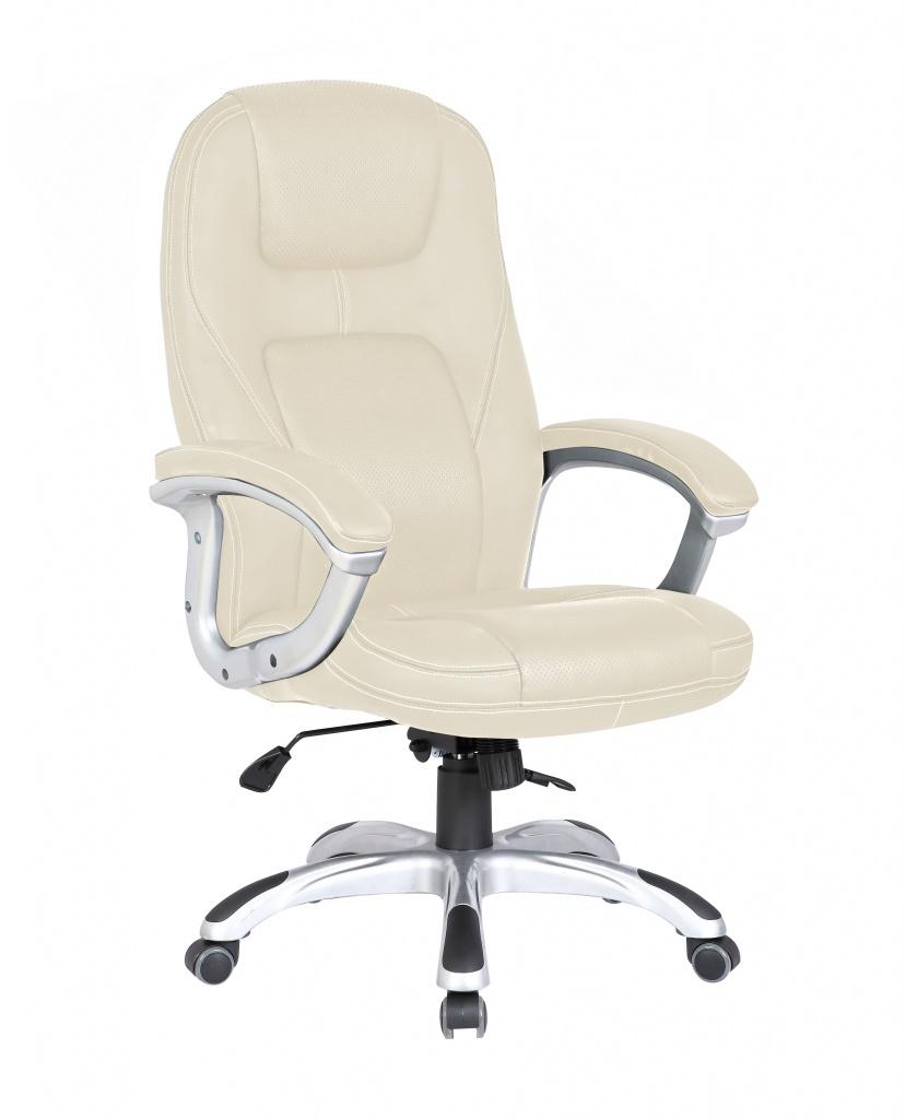 Кресло руководителя COLLEGE XH-869 Бежевый, экокожа, 120кг,крест.ударопрочный пластик,подлокот. пластик с кож. накладками кресло для руководителя college college xh 869 beige