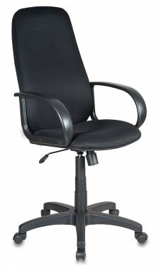 Кресло Buro CH-808AXSN/TW-11 черная тканевая обивка кресло руководителя бюрократ ch 808axsn на колесиках ткань синий [ch 808axsn tw 10]