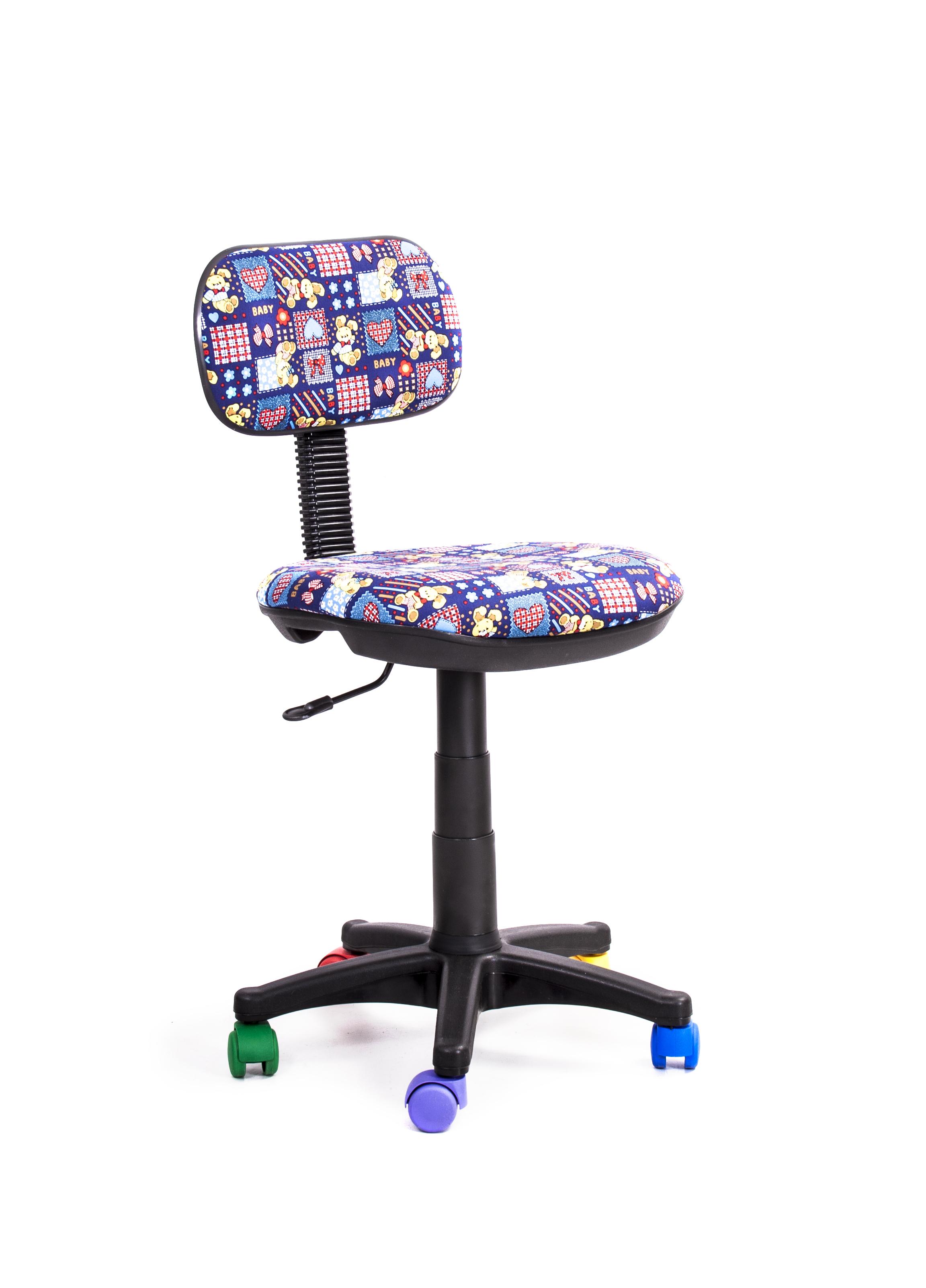 Кресло Recardo Junior D13 (разноцветные ролики, цвет обивки - лиловый, рисунок на обивке - плюшевые кролики) кресло recardo junior d 06 зеленый божья коровка