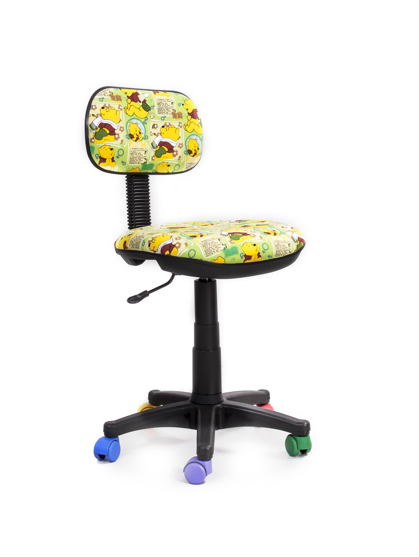 Кресло Recardo Junior DA01 (разноцветные ролики, цвет обивки - жёлтый, рисунок на обивке - Винни Пух) кресло детское recardo junior da01 винни пух