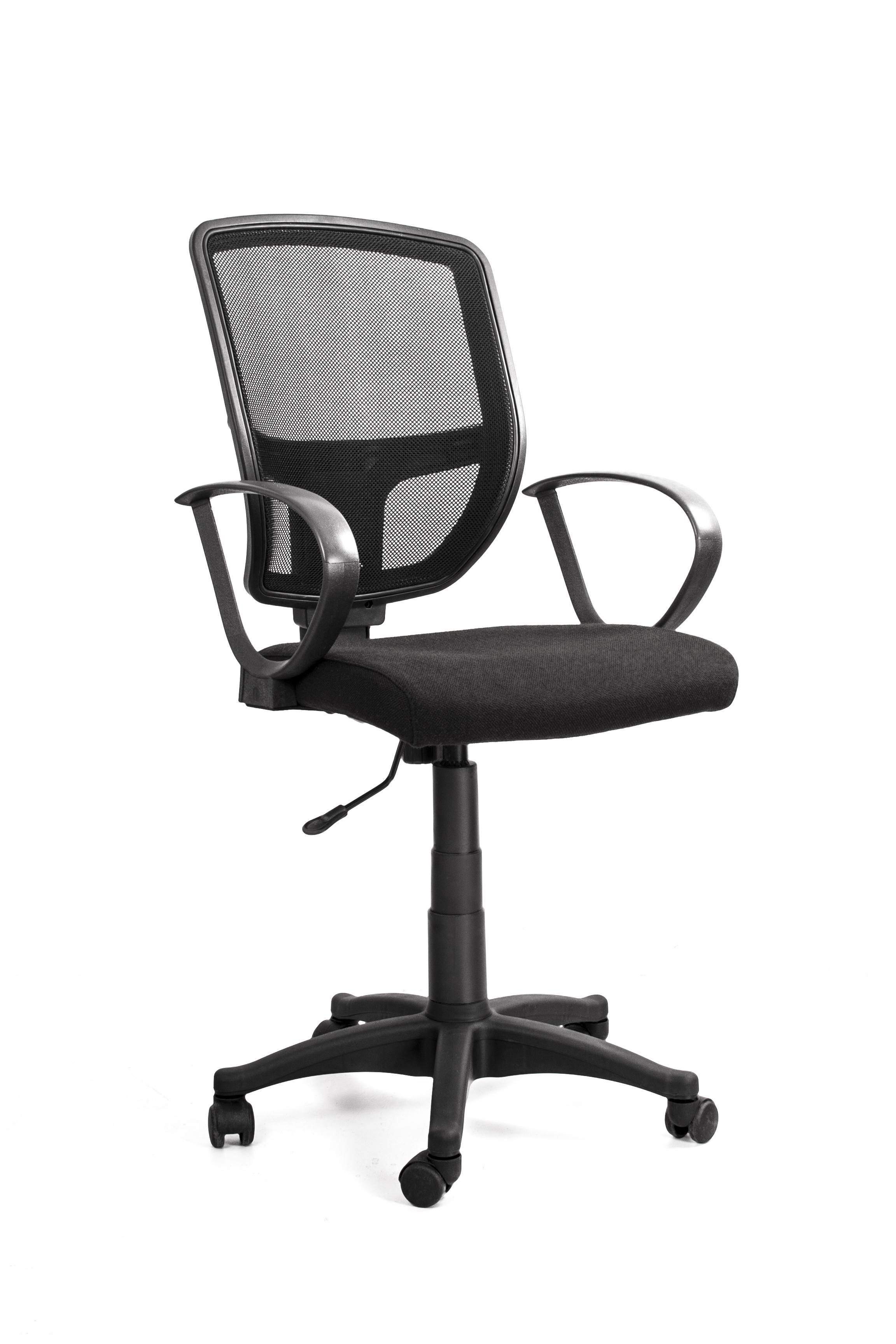 Кресло Recardo Practic (чёрное, ткань, сетчатая спинка) поддон стальной эмалированный practic 900х900х160 мм